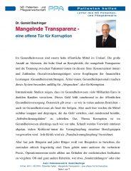 Icon of Mangelnde Transparenz Korruption Dr Bachinger 01