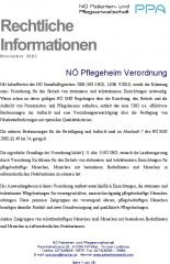 Icon of Pflegeheim Verordnung