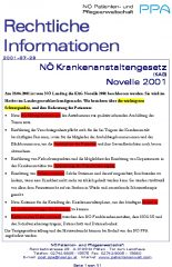 Icon of NÖ Krankenanstaltengesetz (KAG) Novelle