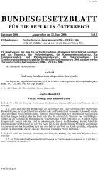 Icon of Sachwalterrechts-Änderungsgesetz 2006