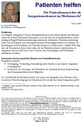 Icon of Die PatientInnenrechte als Integrationselement im Medizinrecht