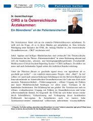 Icon of CIRS A La Oesterreichische Aerztekammer Gerald Bachinger Letter Patientenanwalt