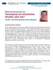 Icon of Versorgung Von Chronischen Wunden Aber Wie Peter Kurz Expertenletter Pflege 01