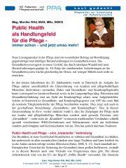 Icon of Public Health als Handlungsfeld für die Pflege
