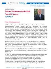 Icon of Fokus Patientensicherheit