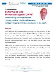 Icon of Fehlermelde- und Präventionssystem CIRPS