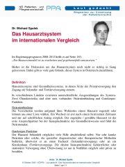 Icon of Das Hausarztsystem im internationalen Vergleich