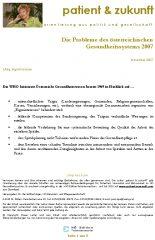 Icon of Die Probleme des österreichischen Gesundheitssystems 2007